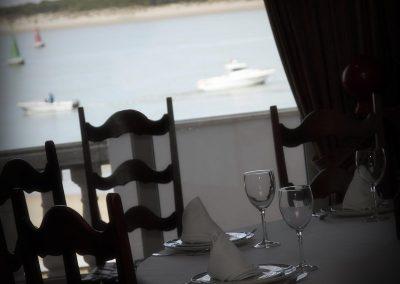 Vista desde mesa en Comedor Mirador Casa Bigote